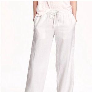 Old Navy white linen pants